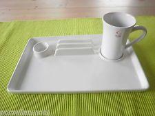 La Vida  Frühstücks-Set 2 tlg.  Becher mit Platte  weiß