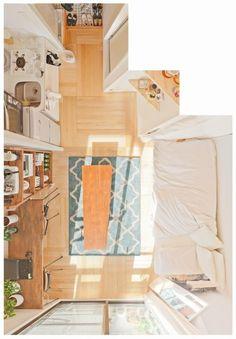 52 Trendy home interior design ideas apartments tiny house Home Design, Design Ideas, Design Design, Design Inspiration, Hm Home, Tiny Apartments, Studio Apartments, Minimalist Room, Aesthetic Room Decor