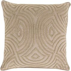 Surya SKD-004 Square Indoor Decorative Pillow with Down or Polyester Filling fro 22 x 22 Polyester Filler Home Decor Pillows Pillows