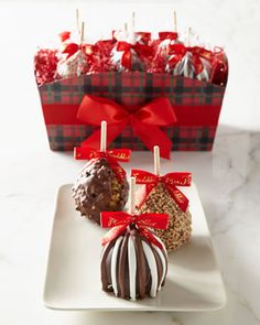 Six-Piece Tartan Tidings Set by Mrs. Prindable\'s at Neiman Marcus. Christmas Food Gifts, Homemade Christmas Gifts, Christmas Cocktails, Christmas Love, Homemade Gifts, Holiday Gifts, Christmas Holidays, Tartan Christmas, Christmas Baking