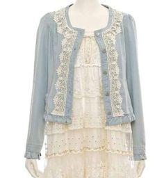 Lace and matching fabric ruffle