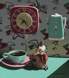 "Scott Moore/Artist,Laguna Beach,California  ""Coffee Time"""