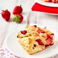Strawberry Scones, lightened with fat-free Greek yogurt