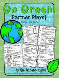 Partner Plays: Go Green! -set of five scripts for 4th & 5th grade readers to improve fluency $