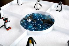 """Penguin Salt Tray... winter sensory fun from Fantastic Fun and Learning ("""",)"""