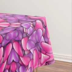 Pink n Purple Cotton Tablecloth