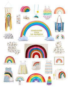 rainbow goodies for kids and babies