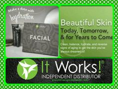It Works Skincare products are Amazing. My skin is so soft and that healthy glow is back. I have Facials in stock for $25 for anyone who wants to give it a try. The harsh winter is here. jenny815wraps.myitworks.com. Contact me today! 248-962-3930