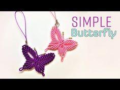 Macrame tutorial - how to make a Simple butterfly keychain - Hướng dẫn thắt dây móc khóa con bướm - Смотреть видео бесплатно онлайн Collar Macrame, Macrame Colar, Macrame Owl, Macrame Knots, Macrame Jewelry, Macrame Bracelets, Loom Bracelets, Macrame Bracelet Patterns, Macrame Bracelet Tutorial