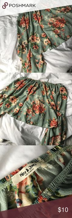 Off the Shoulder Floral Shirt Never worn and I got it from TJ Max Tops Blouses