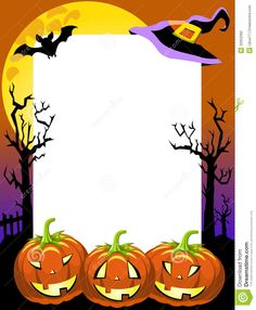 Illustration about Halloween photo frame, post card or page for your scrapbook. Eps file is available. Illustration of lanterns, fright, frame - 32052392 Halloween Photo Frames, Halloween Fotos, Marcos Halloween, Halloween Poster, Homemade Halloween, Halloween Birthday, Halloween Cards, Halloween Classroom Decorations, Diy Halloween Decorations