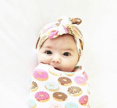 Personalized Baby Blanket And Hat Set Organic Knit Swaddle