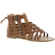 Indigo Rd Durango ($59) ❤ liked on Polyvore featuring shoes, sandals, brown, braided gladiator sandals, woven sandals, braided ankle-wrap sandal, ankle strap sandals and summer sandals