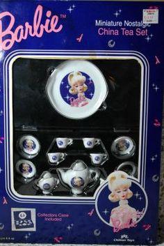 Barbie - China Tea Set # Barbie Toys, Barbie Clothes, Barbie House Furniture, Barbie Miniatures, China Tea Sets, Barbie Friends, Barbie And Ken, Barbie Dress, Vintage Barbie