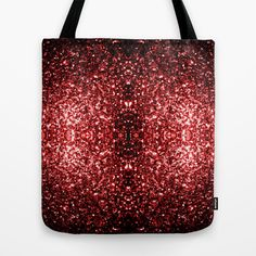 Beautiful Glamour Red Glitter sparkles Tote Bag by #PLdesign #RedSparkles #SparklesGift