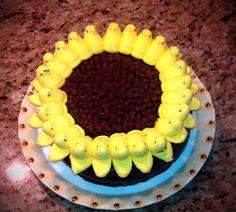Sunflower Easter Cake that I made!!! Thanks Pinterest for the idea!