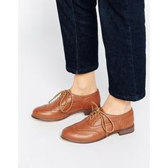 London Rebel Barnaby Brogues ($48) ❤ liked on Polyvore featuring shoes, oxfords, tan pu, brogue oxford, lace up shoes, laced up shoes, tan shoes and lace up oxfords
