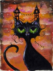 """Dream House"" by artist Joanna Nelson. Black Cat ART"