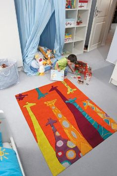 Kids Arte Espina Giraffes hand-tufted rugs made with Espirelle Acrylic. House Doctor, Kids Collection, Childrens Rugs, Tapis Design, Toy Rooms, Kids Rooms, Magic Carpet, Hand Tufted Rugs, Modern Kids