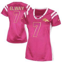 John Elway Elite Jersey-80%OFF Nike John Elway Elite Jersey at Broncos Shop. (Elite Nike Women's John Elway Pink Jersey) Denver Broncos #7 NFL Draft Him Shimmer Easy Returns.