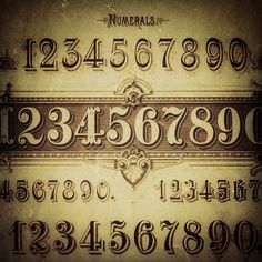 Numerals with just the right decorative details.  #typehunter #typediscovery #numerals