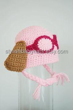 Skye Hat PAW Patrol Hat Crochet Baby Hat by stylishbabyhats