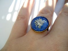 Umbelifer Ring in blue by catarinagdesigns on Etsy, €12.00