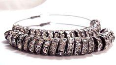 Basketball Wives Earrings Gunmetal Beaded by trendzjewelrysupply, $25.00