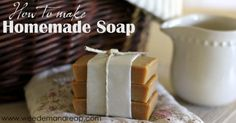 How to make Homemade Soap - Homemade Soap is quite literally one of the easiest things to make.   ONE BATCH lasts our family of four an entire year. Now, that is just plain awesome!