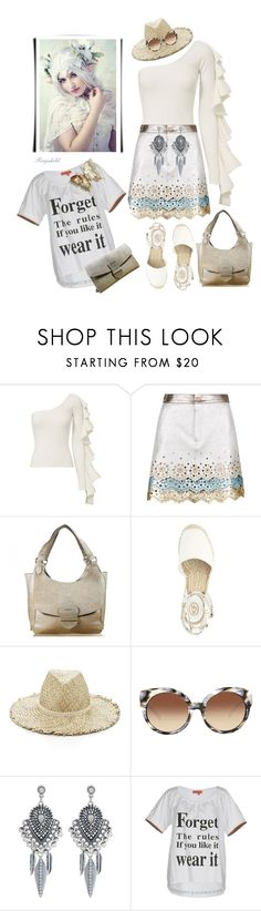 """""""Flair Ruffled Top"""" by ragnh-mjos ❤ liked on Polyvore featuring Beaufille, Hilfiger Collection, Eugenia Kim, Michael Kors, Accessorize and Manila Grace"""