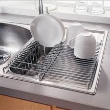 Stainless Steel In Sink Dish Drainer Double Sinks