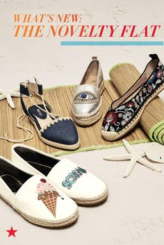 Step into summer with the season's most sought-after shoes, espadrilles—think novelty flats, lace-ups, embroidery and more. Available now at Macy's!