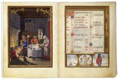 A January Night's Supper by Simon Bening, from the Da Costa Hours, c. 1515. The Pierpont Morgan Library.