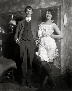 Norman Lindsay and Rose Soady, Bond Street studio circa 1909, by Lionel Lindsay
