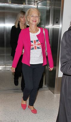 The queen has landed! Dame Helen Mirren looked royally good as she landed in Los Angeles o...