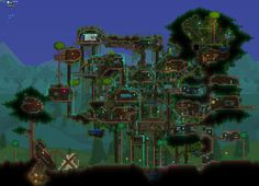 Terrariadragon and floating arches Terraria and