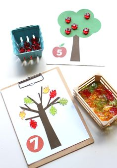 Free printable fall math number mats from no time for flash cards