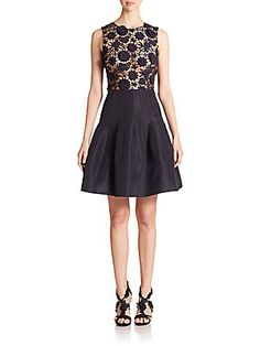 Oscar de la Renta Lace-Top Faille Dress - dress for Jessica's wedding?