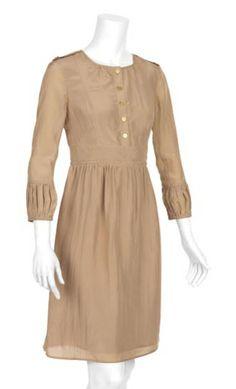 Burberry Shirt Dress.  Love the cuffs.