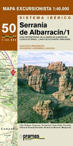 SERRANÍA DE ALBARRACÍN 1. Jaime, Chabier de. Zona septentrional de la Sierra de Albarracín y cuenca de Teruel, Llanos de Pozondón, Peracense : Cella, Ródenas, Peracense, Torrelacárcel, Santa Eulalia, Pozondón, Orihuela del Tremedal, Bronchales, Monterde de Albarracín, Villarquemado. Mapa excursionista. 1-40000. Paseos y excursiones. Disponible en @ http://roble.unizar.es/record=b1470404~S4*spi
