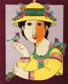 Bjorn Wiinblad print poster Tapestry Girl Vintage Danish modernist print 1961 by planetutopia on Etsy Art And Illustration, Illustrations, Retro Poster, Vintage Posters, Mid Century Art, Animal Sketches, Museum Of Modern Art, Artist Art, Art Education