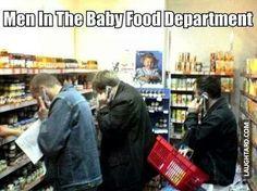 Men in the baby food department