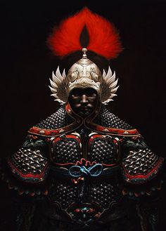 """The Song dynasty would field some of the heaviest armors in all of Chinese history in its struggles against its fierce barbarian neighbors. Both men and the horses would often be very heavily armored and also decorated with elaborate silk scarves, tassels and fringes. The already- elaborate Souzi 琐子, or known in the western academia as""""Mountain scale armor"""" or """"Mountain pattern armor"""" reached its most sophisticated form in this era, as well as the heavier lamellar armor."""