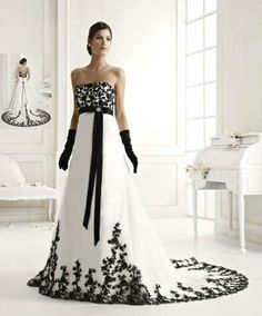 Wedding dress black and white wedding dress decoration for Black wedding dresses meaning