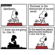 Snoopy's new novel