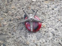 StarFish Pendant Beach Glass Jewelry Star by PiecesofhomeMosaics