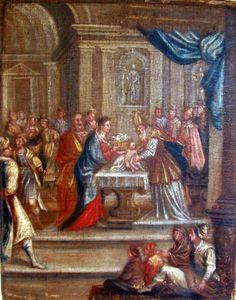 La Circoncision De Jesus Au Temple Dans Le Goût De Passeri Ecole Italienne 17ème