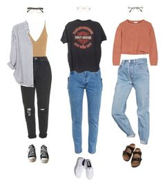 """""""no. 23"""" by girlsaflame ❤ liked on Polyvore featuring Keds, Topshop, Birkenstock, Converse, Urban Outfitters, Brunello Cucinelli, Vetements and Xirena"""