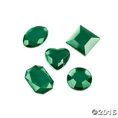 Adhesive Jewels - Green