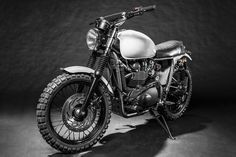 Скрэмблер Gap Tooth на базе Triumph Scrambler